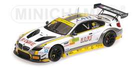 BMW  - M6 GT3 2017 white/black/yellow - 1:43 - Minichamps - 437172689 - mc437172689 | Tom's Modelauto's