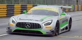 Mercedes Benz  - AMG GT3 2017 grey/green - 1:43 - Minichamps - mc437173050 | Tom's Modelauto's