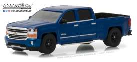 Chevrolet  - Silverado 1500 2018 deep ocean blue - 1:64 - GreenLight - gl29938 | Tom's Modelauto's