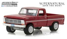 Ford  - F-100 1969 red - 1:64 - GreenLight - gl44800F | Tom's Modelauto's