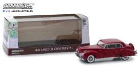 Lincoln  - Continental 1941 mayfair maroon - 1:43 - GreenLight - 86324 - gl86324 | Tom's Modelauto's