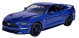 Ford  - Mustang GT 2018 blue - 1:24 - Motor Max - 79352b - mmax79352b | Tom's Modelauto's