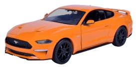 Ford  - Mustang GT 2018 orange - 1:24 - Motor Max - mmax79352o | Tom's Modelauto's