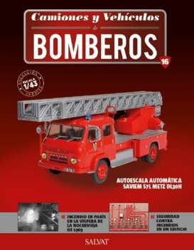 Saviem  - S7 red - 1:43 - Magazine Models - fire16 - magfire16 | Tom's Modelauto's