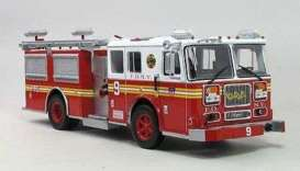 Seagrave  - red - 1:43 - Magazine Models - fire02 - magfireSP02 | Toms Modelautos