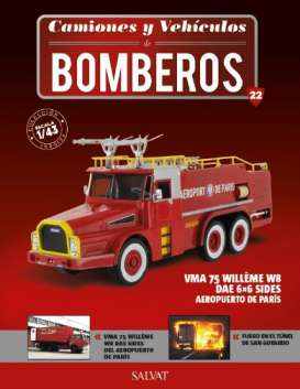 Willeme  - W 8 DAE 6x6 red - 1:43 - Magazine Models - fire22 - magfire22 | Toms Modelautos
