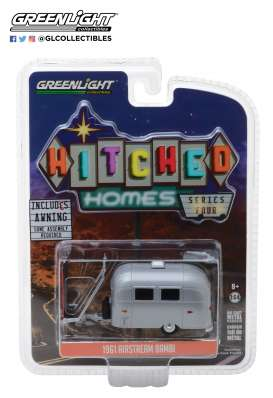 Airstream  - 16 Bambi red/white - 1:64 - GreenLight - 34040E - gl34040E | Tom's Modelauto's