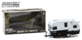 Shasta  - 15'Airflyte white/black - 1:24 - GreenLight - gl18440B | Tom's Modelauto's