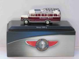 Steyr  - 380 q 1955 brown/white - 1:72 - Magazine Models - magBUS716311 | Tom's Modelauto's