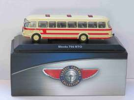 Skoda  - 706 RTO red/creme - 1:72 - Magazine Models - BUS4642124 - magBUS4642124 | Tom's Modelauto's
