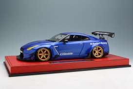 Rocket Bunny  - R35 GT-R candy blue - 1:18 - Make Up - mupIM003A3 | Tom's Modelauto's