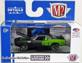 Plymouth  - Hemi Cuda 1971 black/green - 1:64 - M2 Machines - 32600-36B - M2-32600-36B | Tom's Modelauto's