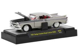 Dodge  - Custom Royal lancer D500 1957 grey/creme - 1:64 - M2 Machines - 32500-39C - M2-32500-39C | Tom's Modelauto's