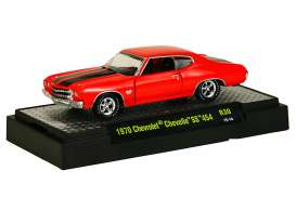 Chevrolet  - Chevelle SS 454 1970 red/black - 1:64 - M2 Machines - 32600-30A - M2-32600-30A | Tom's Modelauto's