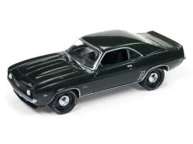 Chevrolet  - Camaro SS 1969 dark green - 1:64 - Johnny Lightning - SP003A - JLSP003A | Tom's Modelauto's