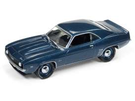 Chevrolet  - Camaro SS 1969 blue - 1:64 - Johnny Lightning - SP003B - JLSP003B | Toms Modelautos