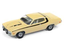 Plymouth  - Roadrunner 1974 yellow/black - 1:64 - Auto World - AWSP002A | Tom's Modelauto's
