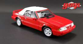Ford  - Mustang LX Convertible 1992 red - 1:18 - GMP - gmp18822 | Toms Modelautos