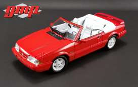 Ford  - Mustang LX Convertible 1992 red - 1:18 - GMP - gmp18822 | Tom's Modelauto's