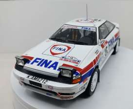Toyota  - Celica #15 1991 white/red/blue - 1:18 - Triple9 Collection - T9-1800200 | Tom's Modelauto's