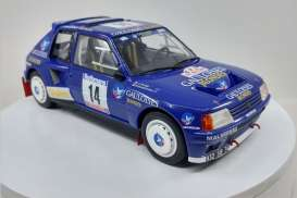 Peugeot  - 205 T16 #14 1985 blue/white - 1:18 - Triple9 Collection - 1800205 - T9-1800205 | Tom's Modelauto's