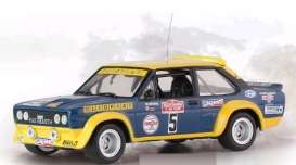 Fiat  - 1977 blue/yellow - 1:43 - IXO Models - ixrac266 | Tom's Modelauto's