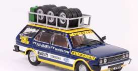 Fiat  - 1975 blue/yellow - 1:43 - IXO Models - ixrac268 | Tom's Modelauto's