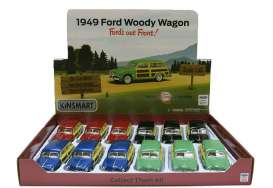 Ford  - Woody Wagon  1949 various - 1:36 - Kinsmart - KT5402D | Tom's Modelauto's