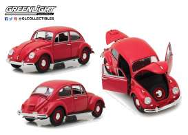 Volkswagen  - Beetle 1967 candy apple red - 1:18 - GreenLight - 13511 - gl13511 | Tom's Modelauto's