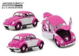 Volkswagen  - Beetle rhd 1967 pink/white - 1:18 - GreenLight - 13512 - gl13512 | Tom's Modelauto's