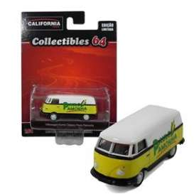 Volkswagen  - T1 Bus white/yellow - 1:64 - GreenLight - 18018-2A - gl18018-2A | Tom's Modelauto's