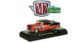 Chevrolet  - Bel Air Hardtop 1955 copper-orange/black - 1:64 - M2 Machines - 32500WC10A - M2-32500WC10A | Tom's Modelauto's