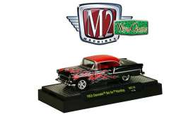 Chevrolet  - Bel Air Hardtop 1955 red/black/ flames - 1:64 - M2 Machines - 32500WC10B - M2-32500WC10B | Tom's Modelauto's