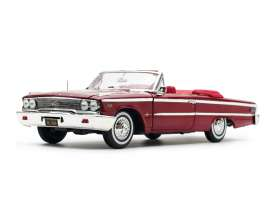 Ford  - Galaxie 500 open convertible 1963 chestnut - 1:18 - SunStar - 1454 - sun1454 | Tom's Modelauto's