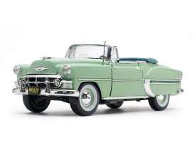 Chevrolet  - Bel Air Convertible 1953 surf green - 1:18 - SunStar - 1624 - sun1624 | Toms Modelautos