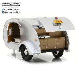 Teardrop Caravan  - grey - 1:24 - GreenLight - gl18420A | Tom's Modelauto's