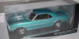 Chevrolet  - 1968 blue - 1:18 - Welly - welly12556b | Tom's Modelauto's