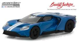 Ford  - GT 2017 blue/white - 1:64 - GreenLight - gl29964 | Tom's Modelauto's