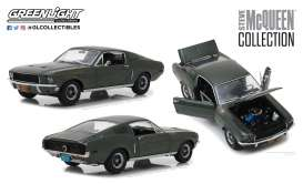 Ford  - Mustang GT fastback 1968 green - 1:18 - GreenLight - 13523 - gl13523 | Tom's Modelauto's