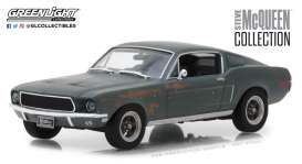 Ford  - Mustang GT fastback  1968 green - 1:43 - GreenLight - 86437 - gl86437 | Tom's Modelauto's