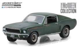 Ford  - Mustang GT fastback  1968 green - 1:64 - GreenLight - gl44722 | Tom's Modelauto's