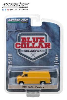 GMC  - Vandura 1972 yellow - 1:64 - GreenLight - 35100C - gl35100C | Tom's Modelauto's