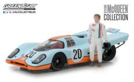 Porsche  - 917K *Steve Mcqueen* blue/orange - 1:43 - GreenLight - 86435 - gl86435 | Tom's Modelauto's