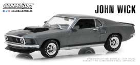 Ford  - Mustang Boss 429 *John Wick* 1969 grey - 1:43 - GreenLight - 86540 - gl86540 | Tom's Modelauto's