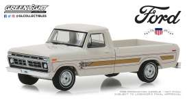 Ford  - F-100 1976 wimbledon white - 1:64 - GreenLight - 29965 - gl29965 | Tom's Modelauto's