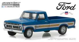 Ford  - F-100 1976 bahama blue - 1:64 - GreenLight - 29966 - gl29966 | Tom's Modelauto's