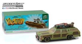 Ford  - Family Truckster Wagon Queen 1979 green/brown - 1:18 - GreenLight - 19048 - gl19048 | Tom's Modelauto's