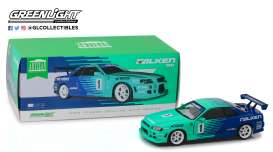 Nissan  - Skyline GT-R R34 1999 green/blue - 1:18 - GreenLight - 19050 - gl19050 | Tom's Modelauto's