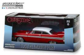 Plymouth  - Fury *Christine* 1958 red/white - 1:43 - GreenLight - 86529 - gl86529 | Tom's Modelauto's