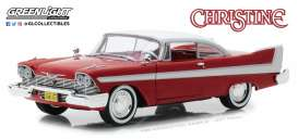 Plymouth  - Fury *Christine* 1958 red/white - 1:24 - GreenLight - 84071 - gl84071 | Tom's Modelauto's